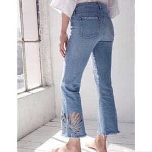 BNWT Designer 3x1 Freja Crop Bell Flare Jeans Sz24
